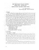 Thử đề nghị vài quy trình kiểm tra - đánh giá môn cơ sở văn hóa Việt Nam