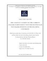 Đánh giá sự phù hợp về nội dung của bài kiểm tra tiếng Anh cuối kỳ dành cho sinh viên không chuyên năm thứ hai của Trường Đại học Dân lập Phương Đông