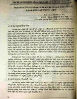 Nghiên cứu phương pháp dịch thuật đối với các văn bản luật tiếng Việt