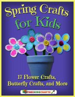Spring crafts for kids 17 flower crafts butterfly crafts and more