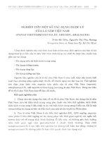 Nghiên cứu một số tác dụng dược lý của lá sâm Việt Nam (Panax Vietnamnesis Ha Et. Grushv, Araliacea