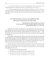 Tác dụng dược lý của cao chiết từ rễ hai loài Valeriana ở Việt Nam