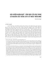 Đặc điểm ngôn ngữ - văn hóa của địa danh có nguồn gốc tiếng Cơ Tu ở Thừa Thiên Huế