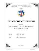 Giải pháp phát triển nguồn nhân lực Logistics ở Việt Nam