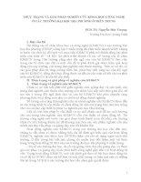 THỰC TRẠNG VÀ GIẢI PHÁP NGHIÊN CỨU KHOA HỌC CÔNG NGHỆ Ở CÁC TRƯỜNG ĐẠI HỌC ĐỊA PHƯƠNG Ở MIỀN TRUNG