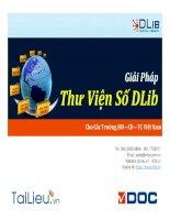 Giải pháp thư viện số DLIB cho các trường đại học, cao đẳng trung cấp Việt Nam