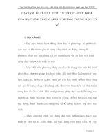 skkn DẠY HỌC PHÁT HUY  TÍNH TÍCH CỰC CHỦ ĐỘNG  CỦA HỌC SINH TRONG MÔN SINH HỌC TRUNG HỌC CƠ SỞ
