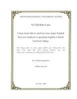 Sử dụng giáo cụ trực quan nhằm gây hứng thú cho sinh viên năm thứ nhất không chuyên học nói tiếng Anh ở trường Cao đẳng Du lịch Hà Nội