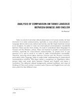 Analysis of comparison on taboo language between Chinese and English