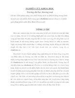 NGHIÊN cứu KHOA học NÂNG CAO CHẤT LƯỢNG DỊCH vụ KHÁCH HÀNG TRONG KINH DOANH