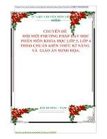 CHUYÊN ĐỀ   ĐỔI MỚI PHƯƠNG PHÁP DẠY HỌC  PHÂN MÔN KHOA HỌC LỚP 5, LỚP 4 THEO CHUẨN KIẾN THỨC KĨ NĂNG   VÀ  GIÁO ÁN MINH HỌA.