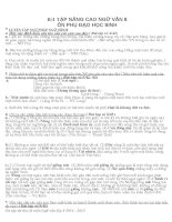 Bài tập ôn thi học sinh giỏi Ngữ văn 8