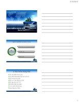 Slide bài giảng môn kinh tế bảo hiểm: Chương 5: Bảo hiểm hàng hải