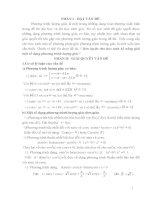 Rèn luyện cho học sinh kĩ năng giải một số dạng phương trình lượng giác_SKKN toán THPT