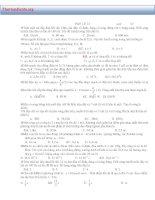 Bài tập trắc nghiệm vật lý kì 1 lớp 12( có đáp án )