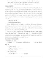 skkn BIỆN PHÁP NÂNG CAO HIỆU QUẢ học PHÂN môn tập VIẾT lớp 1