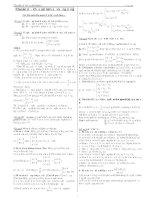 Chuyên đề - Khảo sát hàm số và ứng dụng