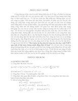 Rèn luyện cho học sinh THPT tư duy tìm tòi sáng tạo qua một số bài toán chứng minh đẳng thức tổ hợp_SKKN toán THPT