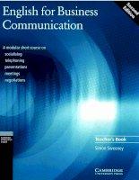 English for business communication for teacher