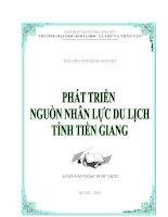 Phát triển nguồn nhân lực du lịch tỉnh Tiền Giang