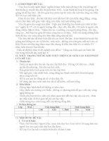 skkn Nâng cao hiệu quả các bước lên lớp trong một tiết dạy sinh học 8