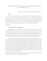 KHẢO SÁT MỘT SỐ ĐẶC TRƯNG CƠ BẢN CỦA LASER BÁN DẪN CÔNG SUẤT CAO Ở CHẾ ĐỘ XUNG NGẮN