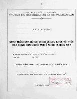 Quan niệm của Hồ Chí Minh về sức khoẻ với việc xây dựng con người mới ở nước ta hiện nay