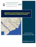 ASSESSMENT VAM CONG BRIDE'S IMPACT ON BASSAC RIVER TOPOGRAPHY BY NUMERICAL MODELING
