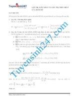 bài toán tìm cực trị của hàm số