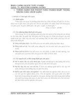 ĐỒ ÁN CÔNG NGHỆ THỰC PHẨM ỨNG DỤNG CHỈ SỐ R (RINDEX) TRONG PHÉP THỬ PHÂN BIỆT