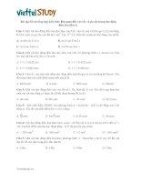 Bài tập bổ trợ tổng hợp kiến thức liên quan đến vận tốc và gia tốc trong dao động