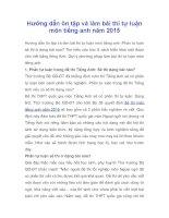 Hướng dẫn ôn tập và làm bài thi tự luận môn tiếng anh năm 2015