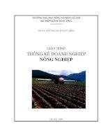 Giáo trình Thống kê doanh nghiệp nông nghiệp