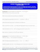 Bài tập về đường tròn lượng giác