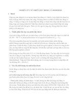 NGHIÊN CỨU VỀ NHIÊN LIỆU DIESEL VÀ BIODIESEL