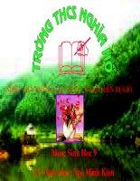 Giáo án thao giảng sinh học 9 Tiết 53 Tác động của con người đối với môi trường (4)