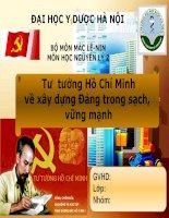 Tư  tưởng Hồ Chí Minhvề xây dựng Đảng trong sạch, vững mạnh