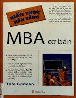 Kiến thức nền tảng MBA cơ bản