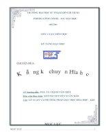 Tiểu luận kỹ năng dạy học kỹ năng kể chuyện hóa học