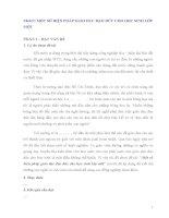 SKKN MỘT SỐ BIỆN PHÁP GIÁO DỤC ĐẠO ĐỨC CHO HỌC SINH LỚP MỘT