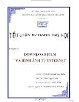 Tiểu luận kỹ năng dạy học DOWNLOAD FILM VÀ HÌNH ẢNH TỪ INTERNET.DOCX