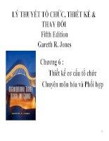 Tiểu luận môn lý thuyết công ty LÝ THUYẾT TỔ CHỨC, THIẾT KẾ& THAY ĐỔI