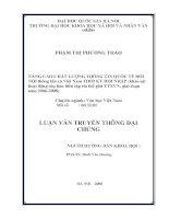 Nâng cao chất lượng tin quốc tế đối nội thông tấn xã Việt Nam thời kỳ hội nhập (Khảo sát hoạt động của Ban biên tập tin Thế giới TTXVN, giai đoạn 2006-2008