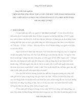 SKKN MỘT SỐ PHƯƠNG PHÁP TẬP LUYỆN THỂ DỤC THỂ THAO NHẰM GIÁO DỤC THỂ CHẤT VÀ PHÁT HUY TÍNH TÍCH CỰC CỦA HỌC SINH Ở BẬC TRUNG HỌC CƠ SỞ