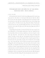SKKN TÍCH HỢP KIẾN THỨC LIÊN MÔN VĂN - SỬ - ĐỊA TRONG GIẢNG DẠY TIẾT 1 - BÀI 14 - GDCD 10
