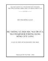 Luận văn tiến sĩ: Hệ thống xã hội tộc người của người khmer ở đồng bằng sông cửu long