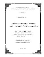 Số phận con người trong tiểu thuyết của Dương Hướng
