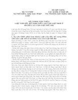 ĐỀ CƯƠNG GIỚI THIỆU LUẬT SỬA ĐỔI, BỔ SUNG ĐIỀU 126 CỦA LUẬT NHÀ Ở VÀ ĐIỀU 121 CỦA LUẬT ĐẤT ĐAI