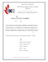 Lập kế hoạch Marketing Online cho công ty