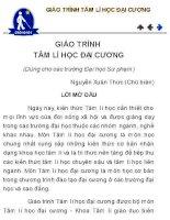 GIÁO TRÌNH TÂM LÍ HỌC ĐẠI CƯƠNG (Dùng cho các trường Đại học Sư phạm) Nguyễn Xuân Thức (Chủ biên)